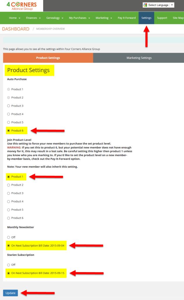 4ca-settings